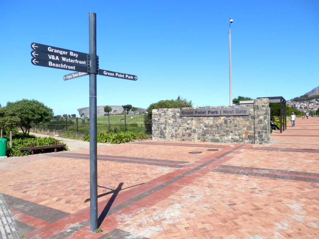 Entrance to Green Point park