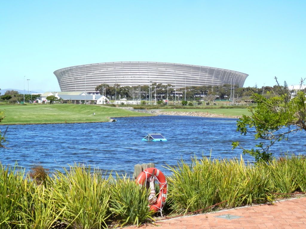Green Point stadium over water