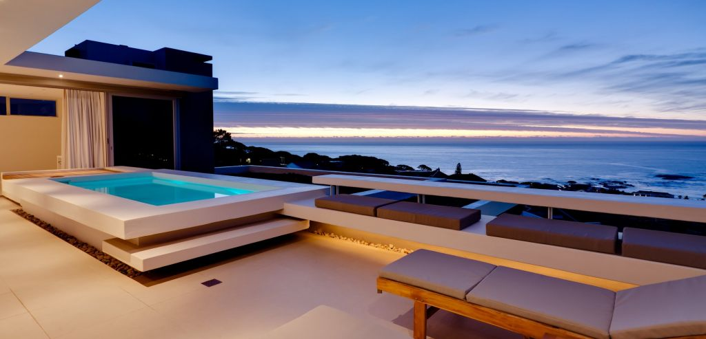 Penthouse Terrace Evening Panorama